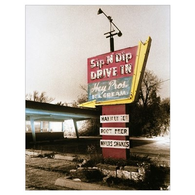 Vintage Drive In Sign Poster