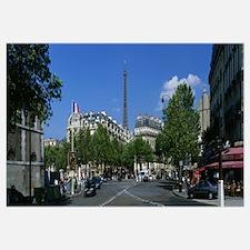 Avenue de Tourville and Eiffel Tower Paris France