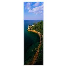 Pictured Rocks National Lake Shore Lake Superior U Poster