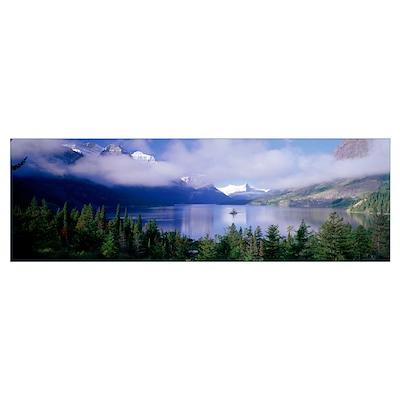 St Mary Lake Glacier National Park MT Poster