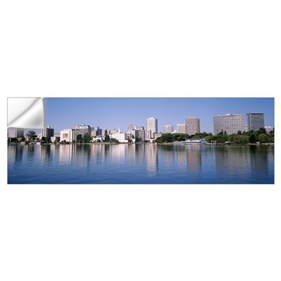 California, Oakland, Panoramic view of the waterfr Wall Decal