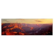 Colorado River and Grand Canyon National Park AZ Poster