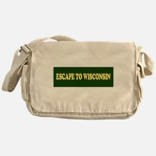 Escape to Wisconsin Bumper St Messenger Bag