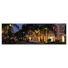 Evening Third Street Naples FL Poster