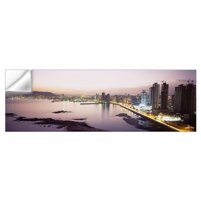 Buildings in a city, Panama City, Panama Wall Decal