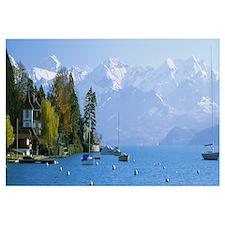 Lake Thun by Hilterfingen Canton Bern Switzerland