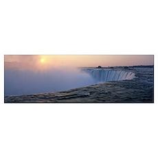 Sunrise Horseshoe Falls Niagara Falls NY Poster