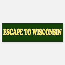 Escape to Wisconsin Sticker (Bumper)