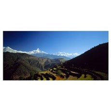 Annapurna Mountains Nepal Poster