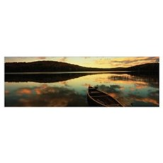 Water and boat ME/NH border Poster