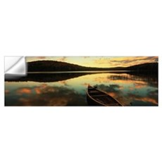 Water and boat ME/NH border Wall Decal