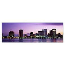 Dusk Skyline New Orleans LA Poster