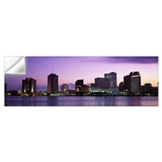 Dusk Skyline New Orleans LA Wall Decal