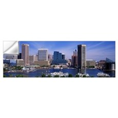 Inner Harbor Federal Hill Skyline Baltimore MD Wall Decal