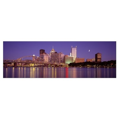 Allegheny River Pittsburgh PA Poster