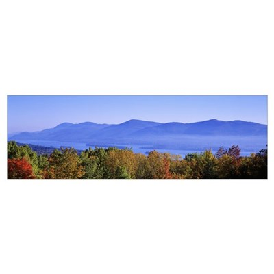 Lake George Adirondack Mountains NY Poster