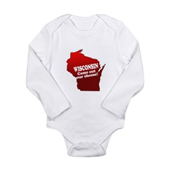Come Cut Our Cheese Long Sleeve Infant Bodysuit