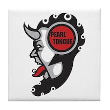 Pearl Tongue Color Logo Tile Coaster