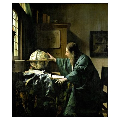 The Astronomer, 1668 (oil on canvas) Poster