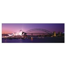 Opera House Harbour Bridge Sydney Australia Poster
