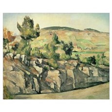 Hillside in Provence, c.1886 90 (oil on canvas) Poster