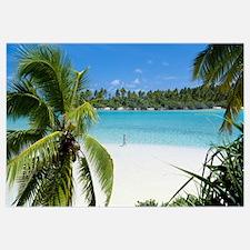 Woman Beach One Foot Island Cook Islands