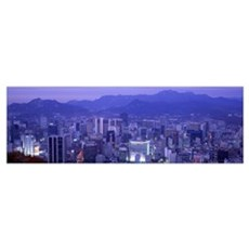 Night Seoul South Korea Canvas Art