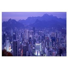 Night Seoul South Korea