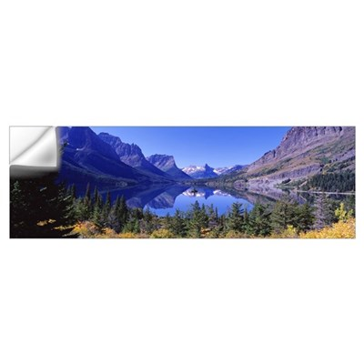 St Mary Lake Glacier National Park MT Wall Decal