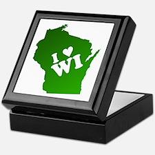 I heart Wisconsin Keepsake Box