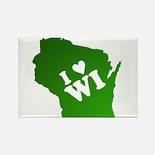 I heart Wisconsin Rectangle Magnet
