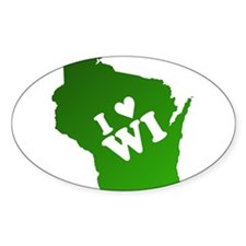 I heart Wisconsin Decal