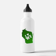 I heart Wisconsin Water Bottle