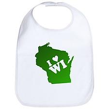 I heart Wisconsin Bib