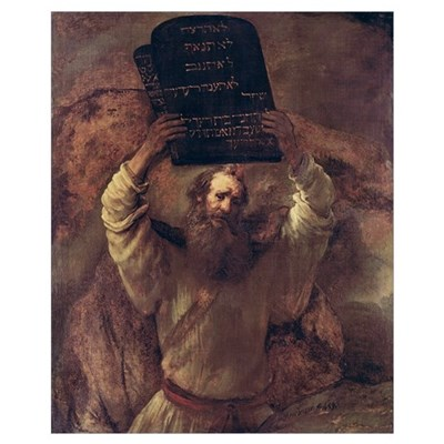 Moses Smashing the Tablets of the Law, 1659 (oil o Poster