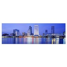 Night Jacksonville FL Canvas Art