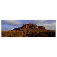Superstition Mountains Lost Dutchman State Park AZ Poster