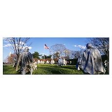 Korean Veterans Memorial Washington DC Poster