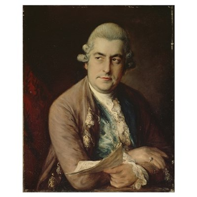 Johann Christian Bach, 1776 (oil on canvas) Canvas Art