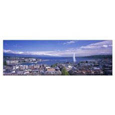 Lake Geneva Geneva Switzerland Poster
