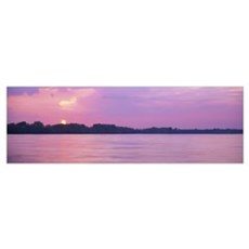 Sunset Mississippi River Memphis TN Poster