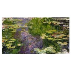 Waterlilies (oil on canvas) Framed Print
