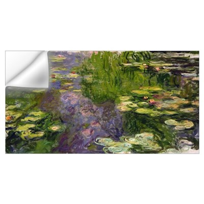 Waterlilies (oil on canvas) Wall Decal