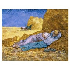 Noon, or The Siesta, after Millet, 1890 (oil on ca Poster