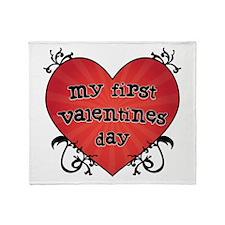 Tattoo Heart 1st Valentines Throw Blanket