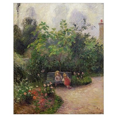 A Corner of the Garden at the Hermitage, Pontoise, Framed Print