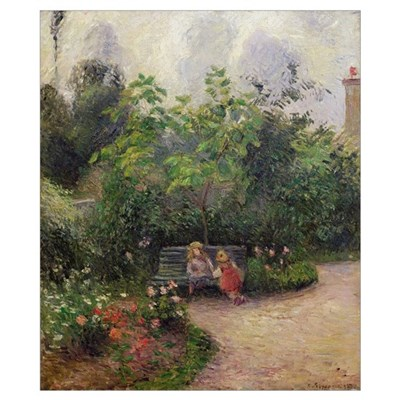 A Corner of the Garden at the Hermitage, Pontoise, Poster