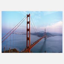 Traffic on a bridge, Golden Gate Bridge, San Franc