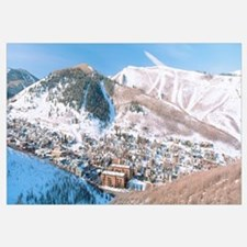 Town in a mountain valley, Park City, Utah