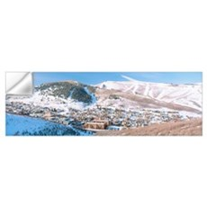 Town in a mountain valley, Park City, Utah Wall Decal